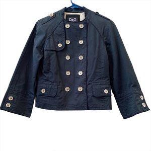 Dolce & Gabbana navy double-breasted waistcoat